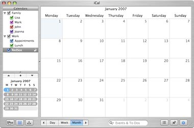 The first impression of iCal.