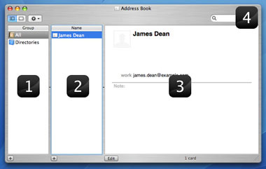 An overview of Address Books interface.