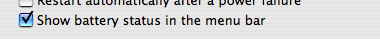 Check the appropriate box in System Preferences in order to turn Menu extras on or off.