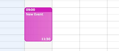 With iCal, it is easy to create a new event.