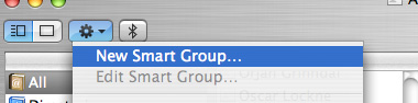 Click the cogwheel button in order to add a new smart group.